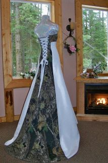 NEW Camo Wedding Gown/dress CUS​TOM MADE  In the USA