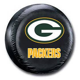 Green Bay Packers Black Spare Tire Cover Standard Size