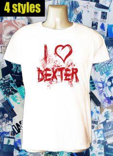 LOVE DEXTER morgan serial killer tv t shirt 4 STYLES