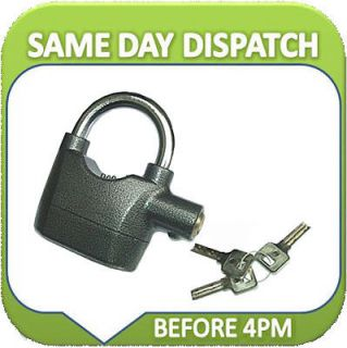 ALARMED SECURITY SENSOR PADLOCK MOTORBIKE SHED ALARM