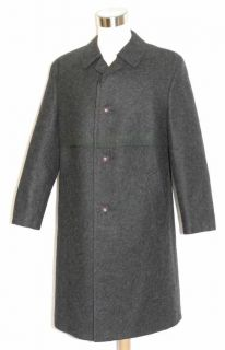 WOOL Men German Hunting Winter Dress Suit Trench Over Coat / 50 47 L