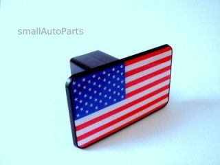 FLAG TOW HITCH COVER * car/truck/suv trailer 2 receiver plug cap