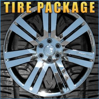 Cadillac Escalade 24 CHROME WHEELS Chevrolet GMC RIMS TIRES PACKAGE