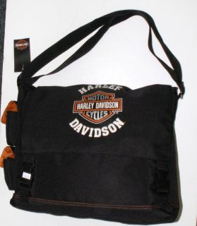 Harley Davidson Messenger Bag   Travel Bag   Backpack  Black