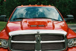 02 08 DODGE RAM TRUCK STEEL RAM AIR COWL INDUCTION HOOD