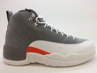 130690 012] Mens Air Jordan 12 Retro Cool Grey White Team Orange 2012