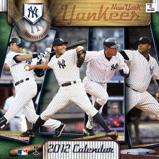 2012 new york yankees 12x12 wall Calendar by Perfect Timing   Turner