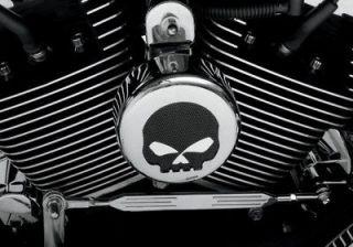 Chrome Black Mesh Skull Horn Cover Harley Davidson Touring FLT Street