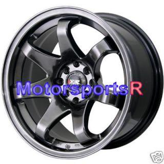 15 15x8 XXR 522 Chromium Black Concave Rims Wheels stance Datsun 240z
