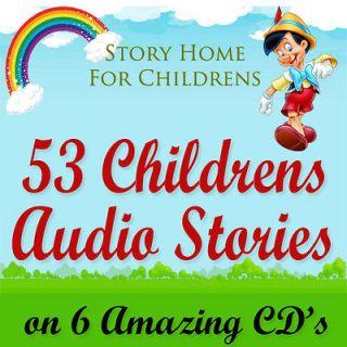 53 Childrens Audio Story Books on 6 CDs Classic Children Kids Fairy