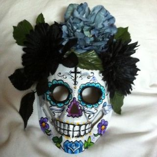 Sugar Skull Mask Day Of The Dead Dia De Los Muertos Hand Painted Art