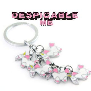 chain despicable me Movie Metal key ring figure agnes fluffy toy USA