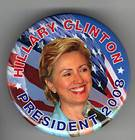 Hillary Clinton campaign button pin 2008 Horse People