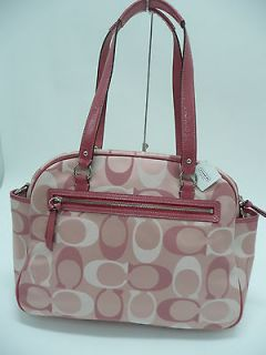 NWT COACH Addison Signature Baby Diaper Bag Tote Coral 18376 $498 100%