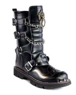 HOT visual kei GOTHIC PUNK Kera rock heavey metal Boots US 8 10.5 free