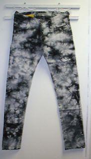 Emperial Super Skinny Stretch Denim Black&White Tie Dye Jeans Junior