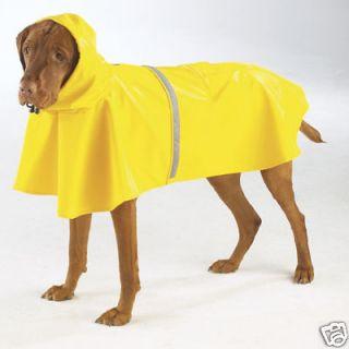 DOG RAINCOAT shepherd great dane akita DOG RAIN COAT JACKET yellow