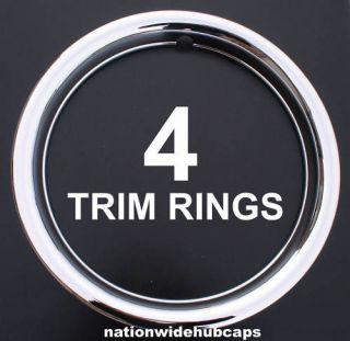 SET OF 4 13 CHROME WHEEL TRIM RINGS BEAUTY RIM RING GLAMOUR BANDS