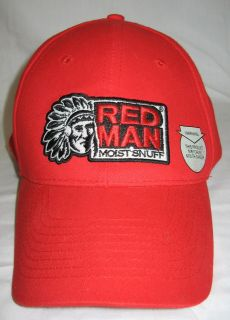 RED MAN Moist Snuff CHEWING TOBACCO Baseball CAP / HAT NWOT