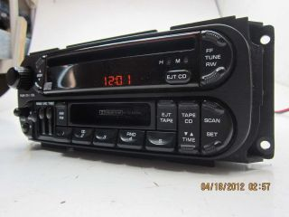 JEEP Factory CD PLAYER RADIO Stratus Cherokee ORANGE AMBER SCREEN