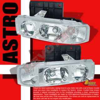 05 CHEVY ASTRO VAN GMC SAFARI HEAD LIGHTS 96 98 02 (Fits Chevrolet