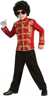 Childs Michael Jackson Halloween Costume Red Military Jacket Stage