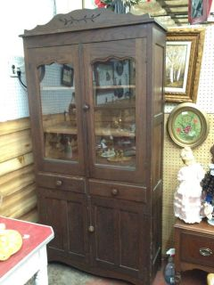 oak china cabinet antique
