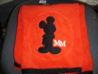 DISNEY EMBROIDERED MICKEY MOUSE BATH TOWEL RED & BLACK NWT