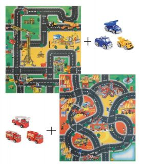FLOOR PLAY MAT ROAD RUG CAR BOY KIDS CHILDREN GRIP ENGINE