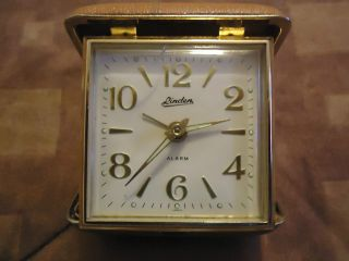 Vintage Linden Travel Wind Up Alarm Clock Brown Made in Japan