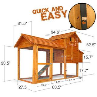 Backyard stealth chicken coop building plans city chicks for Rabbit hutch plans easy