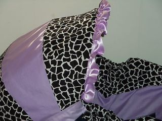 GIRAFFE LIGHT PURPLE INFANT BABY CAR SEAT COVER GRACO