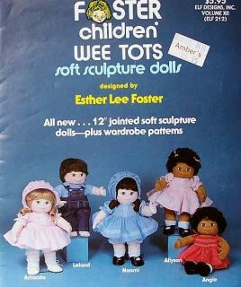 Sew Foster Children Wee Tots Soft Sculpture Dolls Patterns