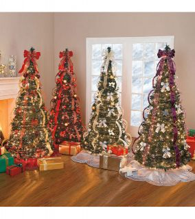 FULLY DECORATED AND LIGHTED POP UP CHRISTMAS TREE NEW