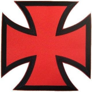 BACK PATCH RED CHOPPER IRON CROSS For Biker Vest Patch