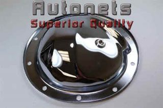 Chrome Steel Differential Cover Chevy GMC 1/2 Ton 2WD/4WD Rear 10 Bolt