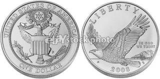 Dollar, 2008, American Bald Eagle