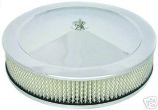 Chrome Air Cleaner Set 14 x 3 Recessed Base Chevy Mopar Ford Muscle