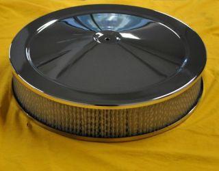14 Chrome Air Cleaner Kit Breather Filter Hot Rat Rod