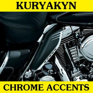 Chrome Accents 2009 2011 Harley Touring w Mid Frame Air Deflectors