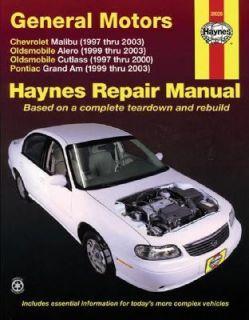 General Motors Chevrolet Malibu 1997 thru 2003 Oldsmobile Alero 1999