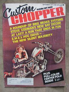 1974 Custom Chopper Magazine Harley Davidson Arlen Ness