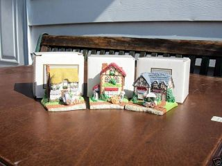 AVON EASTER SUNNY COTTAGE LANE  SET OF THREE  1984