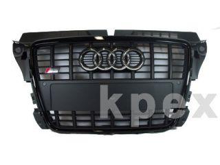 Audi S3 8P Grill + PDC black A3 Facelift front bumper Grille