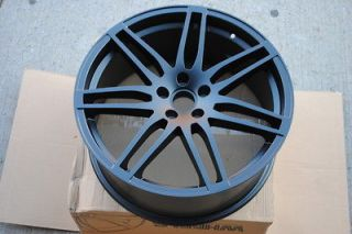18 Matte Black RS4 Style Wheels Rims Audi & Volkswagen VW 5x112 ET 40