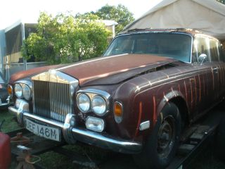 Rolls Royce Silver Shadow Front Chrome Bumper Assembly with Overiders