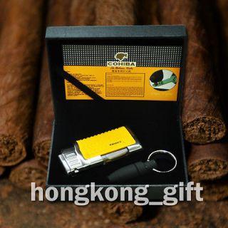 COHIBA Cigar Cigarette Lighter Punch Cutter Key Chain Stainless steel