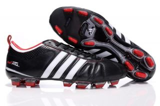 adidas adiPure IV TRX FG SOCCER CLEATS BOOTS  Black with Red and White