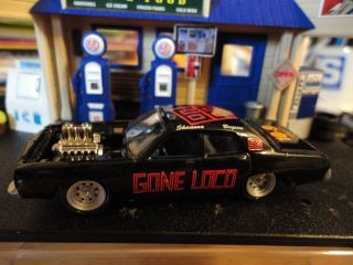 LOOSE RARE BLACK 77 DODGE MONACO DEMOLITION DERBY CAR !