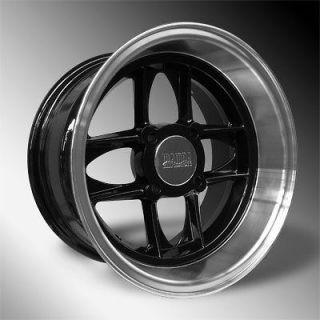 Austin Mini /Cooper 4 New Black/Polished 13x7 Mamba Deep Dish Wheels